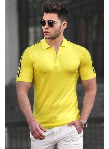 Madmext   Polo Yaka Triko Tişört 5084 Sarı